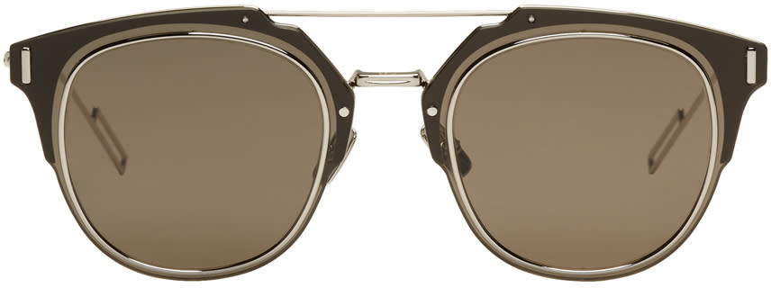 Image of Dior Homme Silver Composit 1.0 Sunglasses