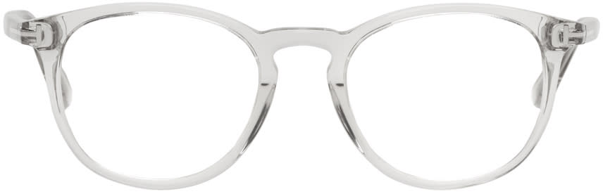 Image of Tom Ford Transparent Round Glasses
