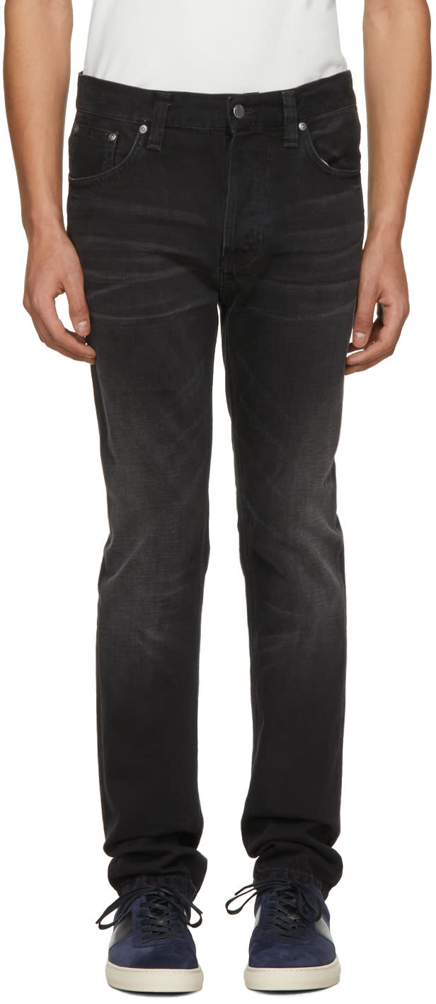 Image of Nudie Jeans Black Fearless Freddie Jeans