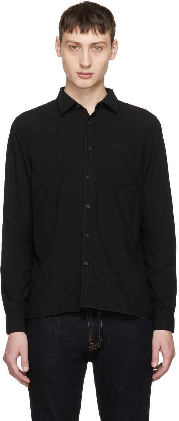 Image of Nudie Jeans Black Henry Shirt