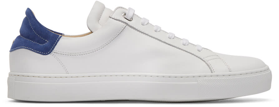 Belstaff White and Blue Dagenham 2.0 Sneakers