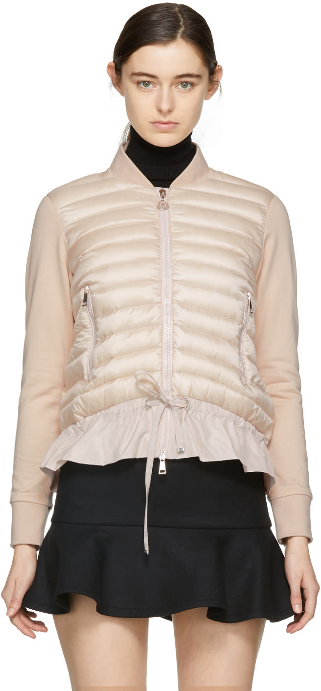 a4864aac1 Moncler Pink Down Cardigan Jacket