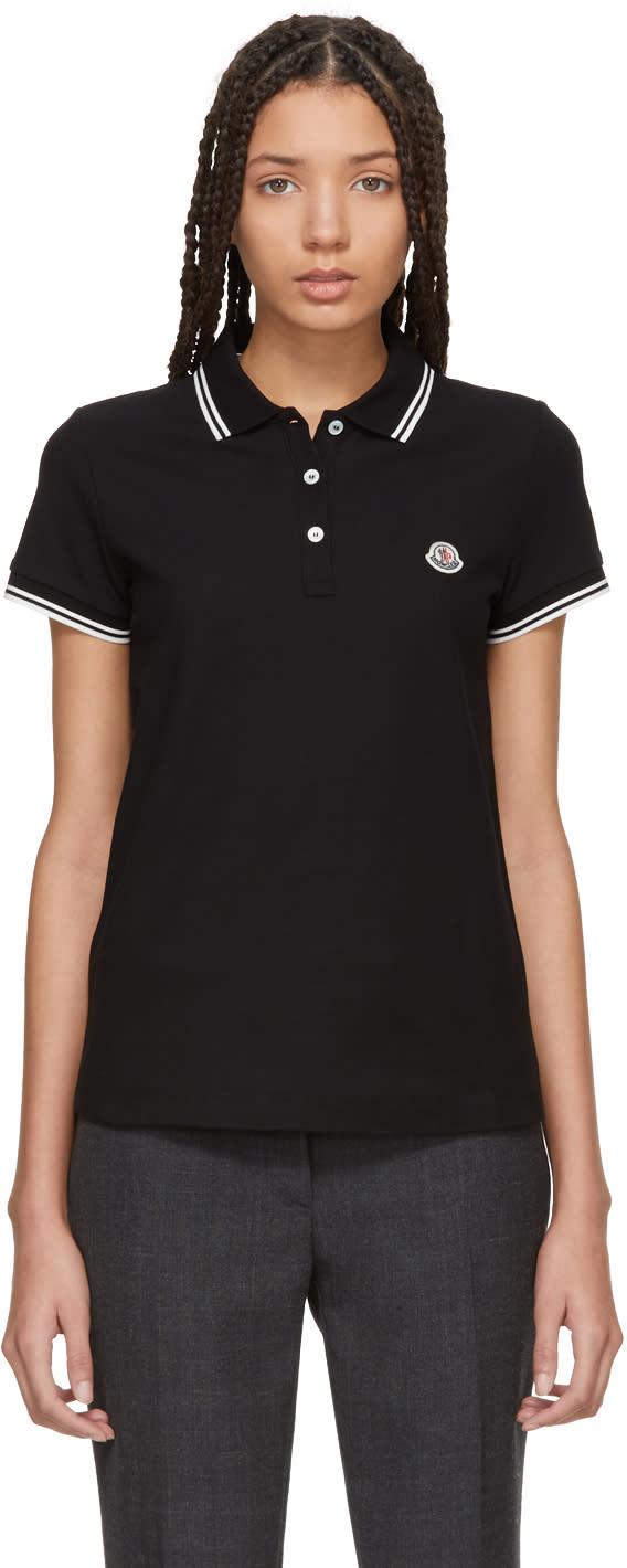 b6ebae38d643 Moncler Black Short Sleeve Polo