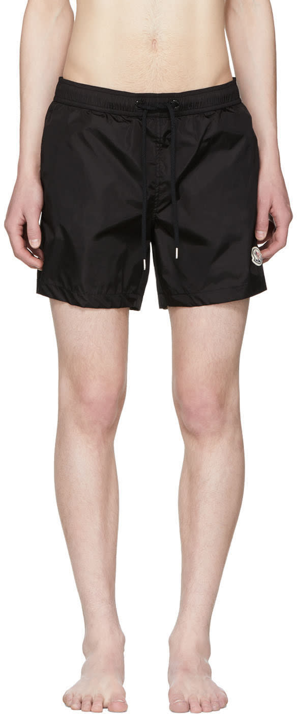 9bfb6e1d314e0 Moncler Black Small Logo Swim Shorts