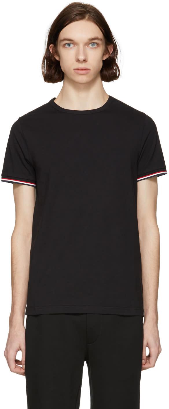 1ead19f6f Moncler Black Flag Sleeves T shirt