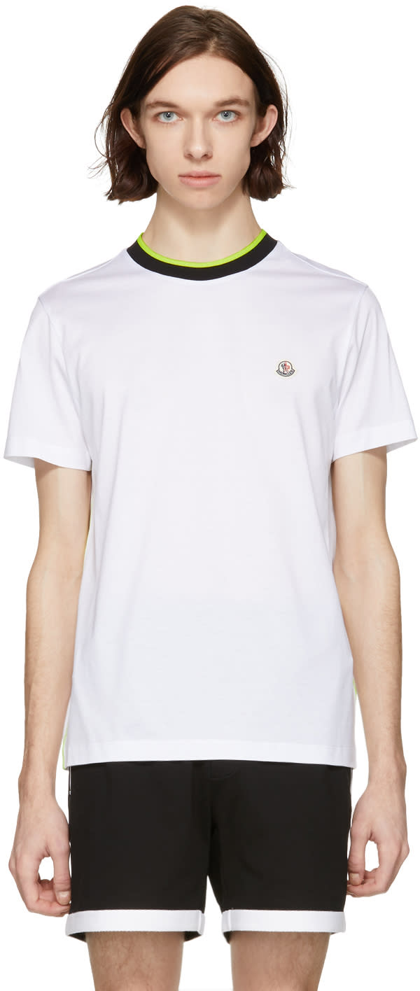 73dc40a22 Moncler White Logo T shirt