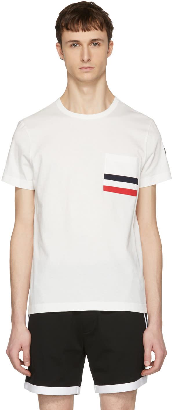 e7732c4c6 Moncler Off white Flag Pocket T shirt