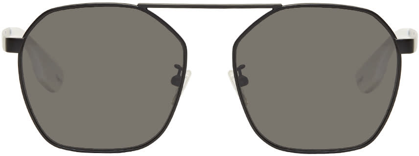 bea335b324a6 Mcq Alexander Mcqueen Black Aviator Sunglasses