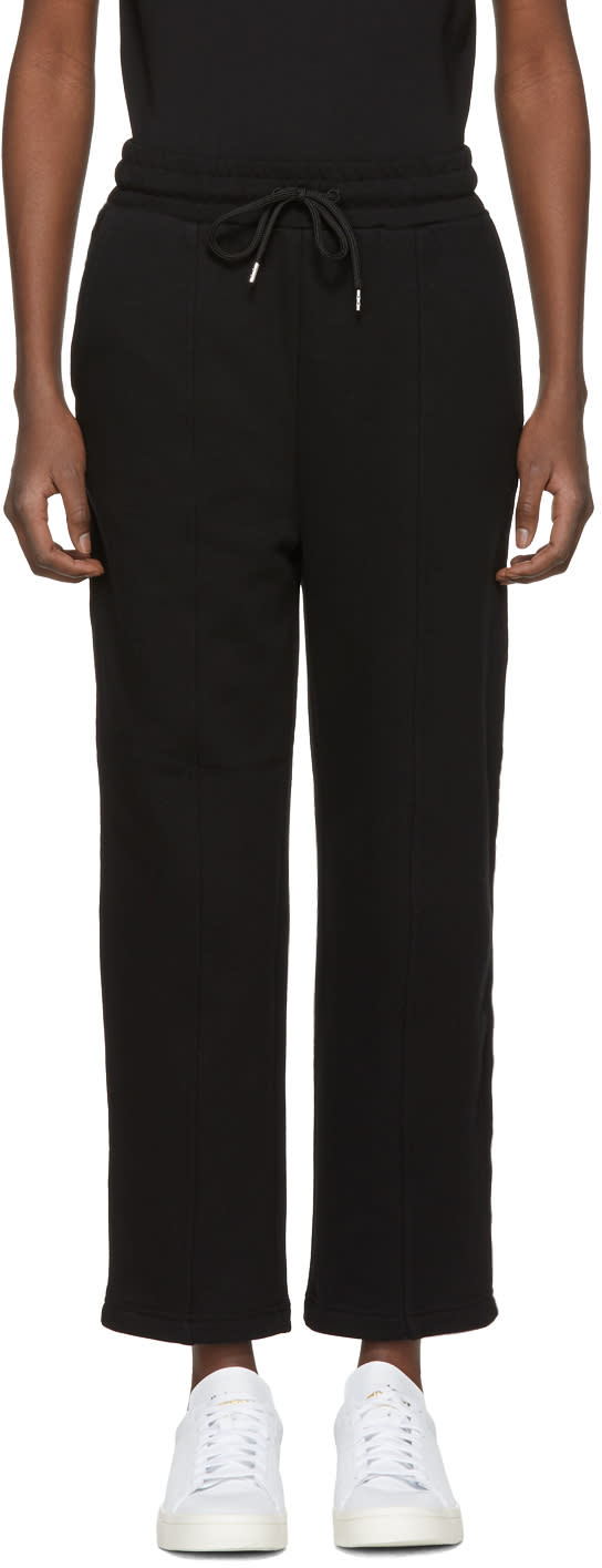 Image of Mcq Alexander Mcqueen Black and Pink Logo Lounge Pants