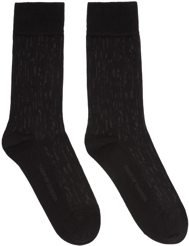 Image of Tiger Of Sweden Black Fanika Socks