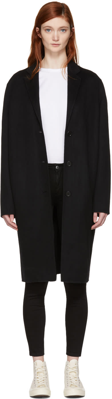Acne Studios Black Avalon Doubl� Coat