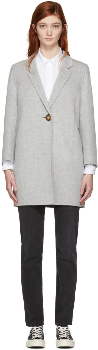Acne Studios Grey Anine Doublé Coat