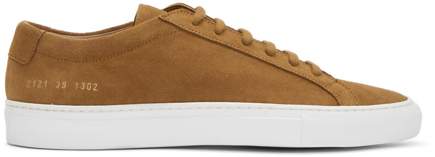 Common Projects Tan & White Suede Original Achilles Low Sneakers 5Dttkd