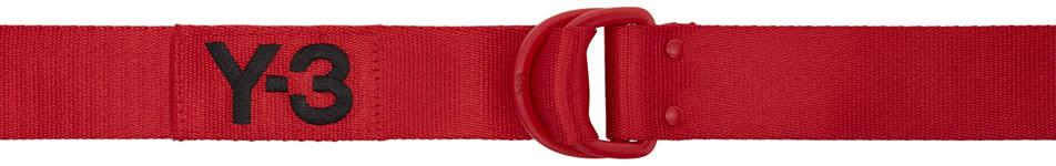 Y-3 Red Logo Belt