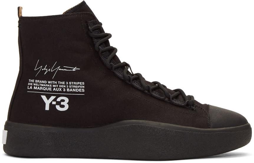 Y-3 Black Bashyo High-top Sneakers