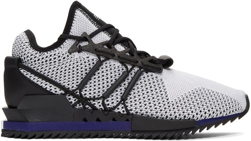 21218d486 Y 3 White and Black Y 3 Harigane Sneakers