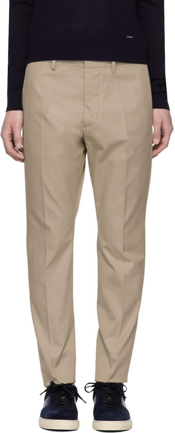 Image of Dsquared2 Beige Hockney Trousers