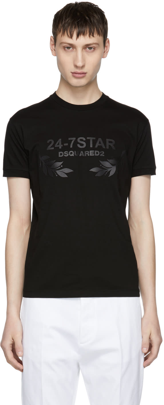 Image of Dsquared2 Black 24-7 Star T-shirt