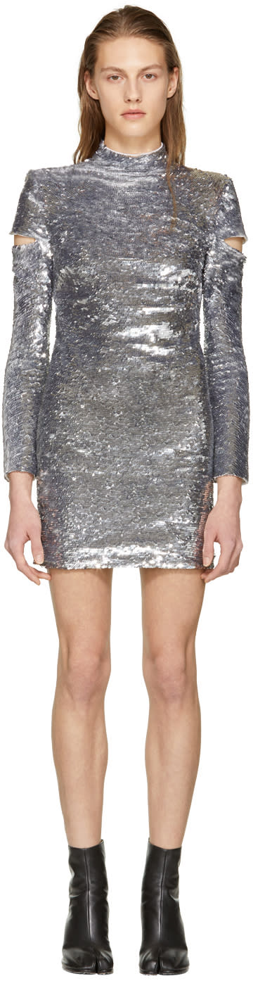Helmut Lang Silver Disco Dress