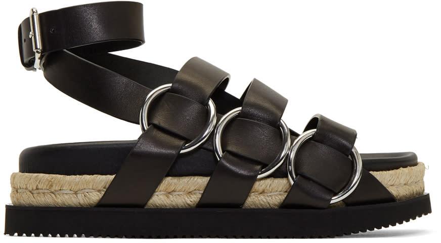 Alexander Wang Black Bess Flatform Sandals