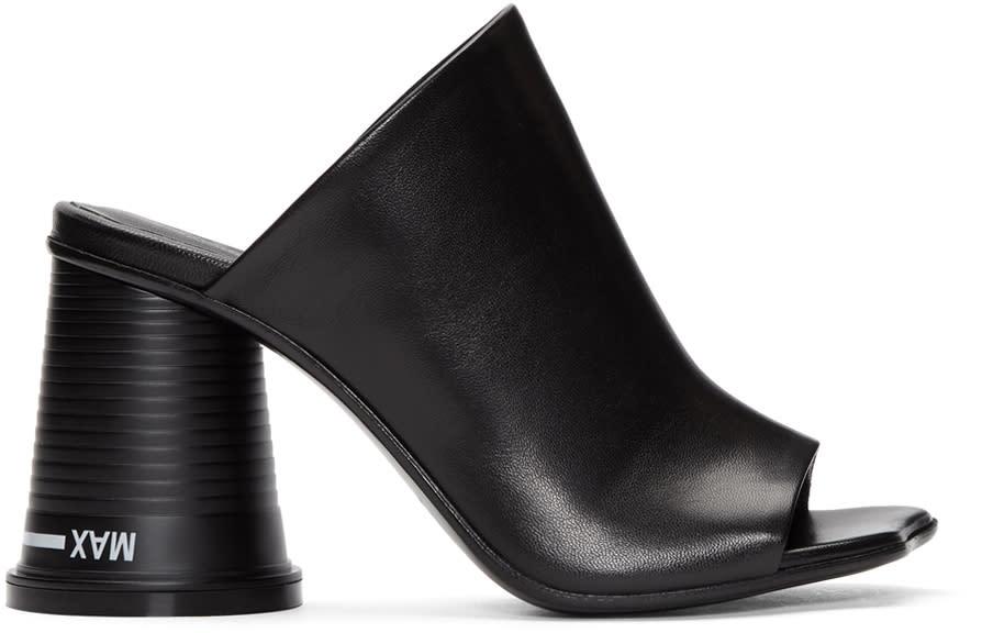 Mm6 Maison Margiela Black Court Cup Heel Sandals