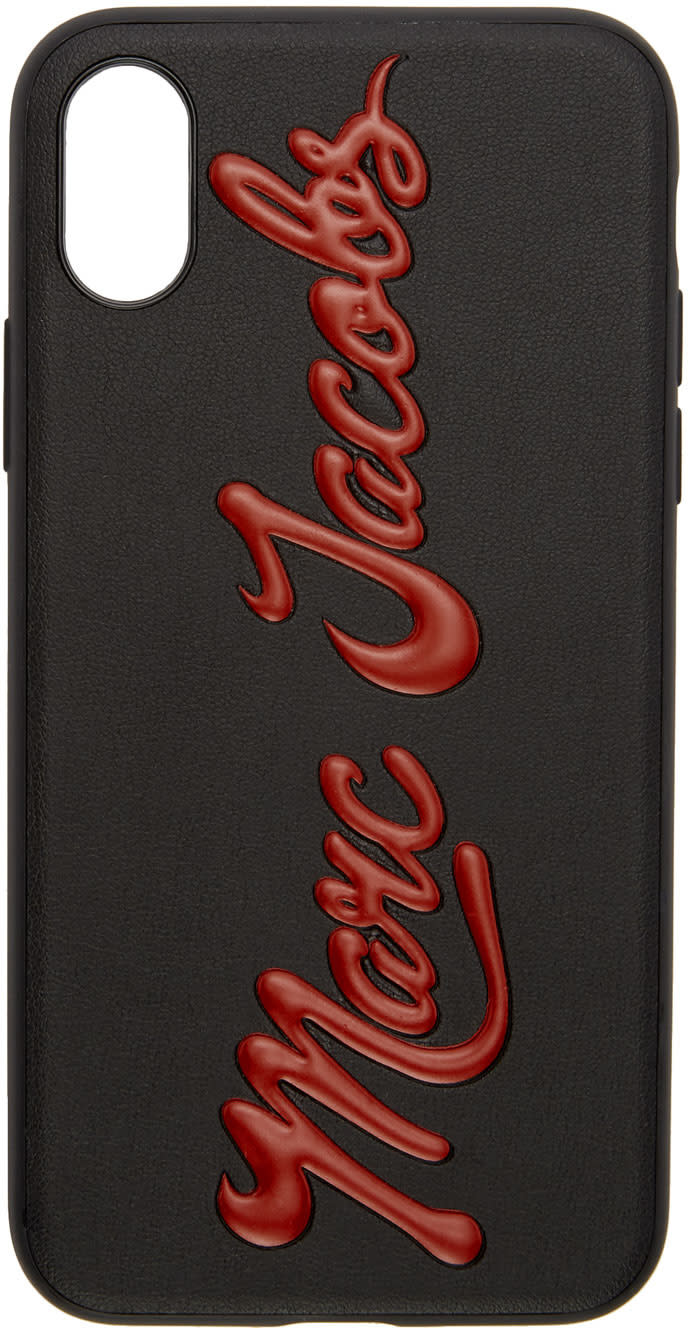 Marc Jacobs Black Glossy Logo Iphone 7 Case