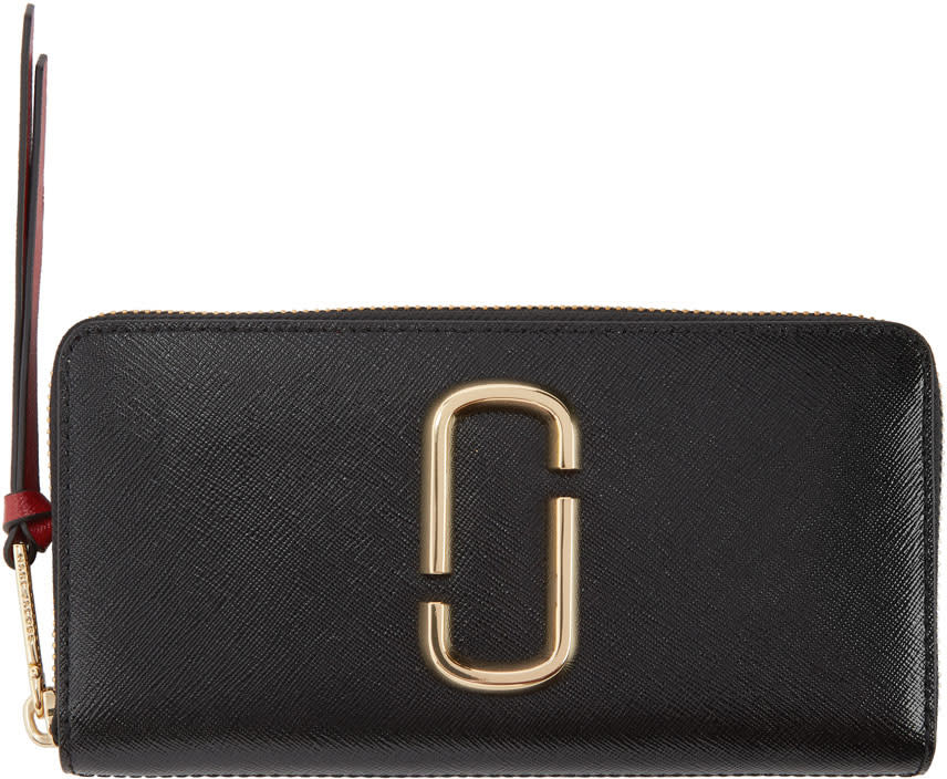 Marc Jacobs Black Snapshot Continental Wallet