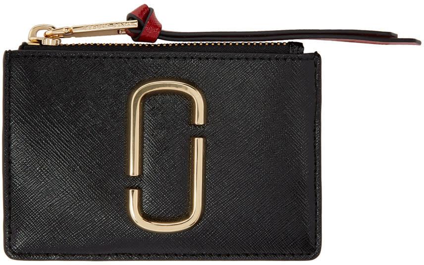 Marc Jacobs Black Double J Snapshot Card Holder