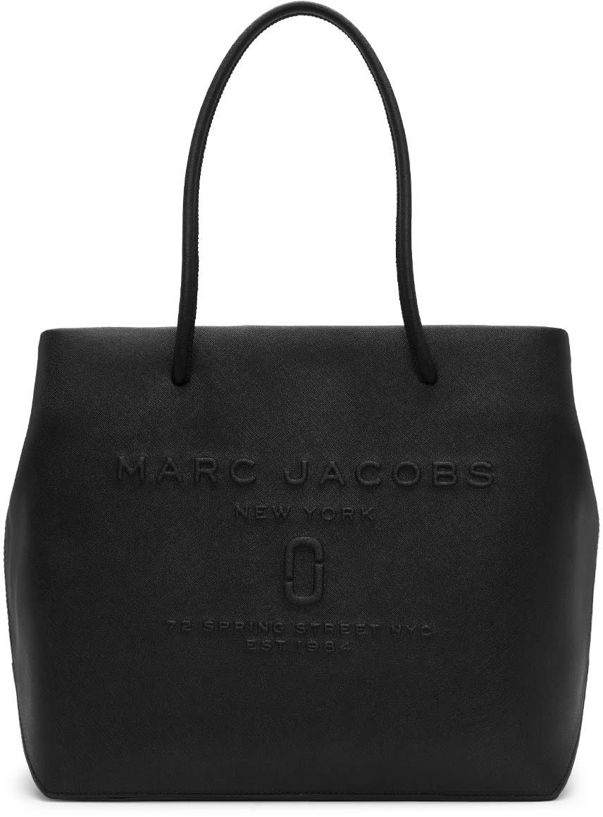 Marc Jacobs Black East West Logo Tote