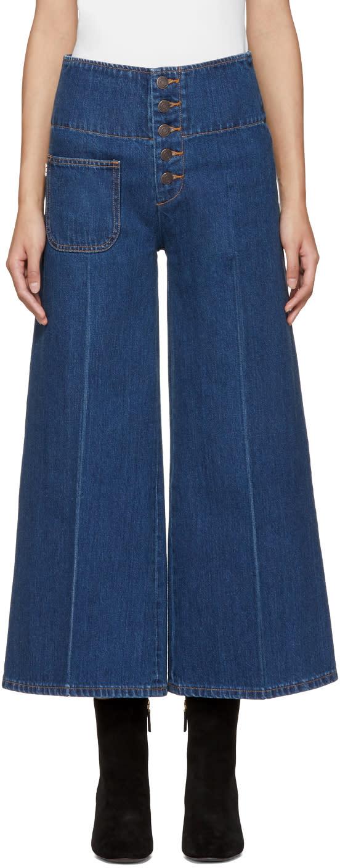 Marc Jacobs Indigo Wide Leg Jeans