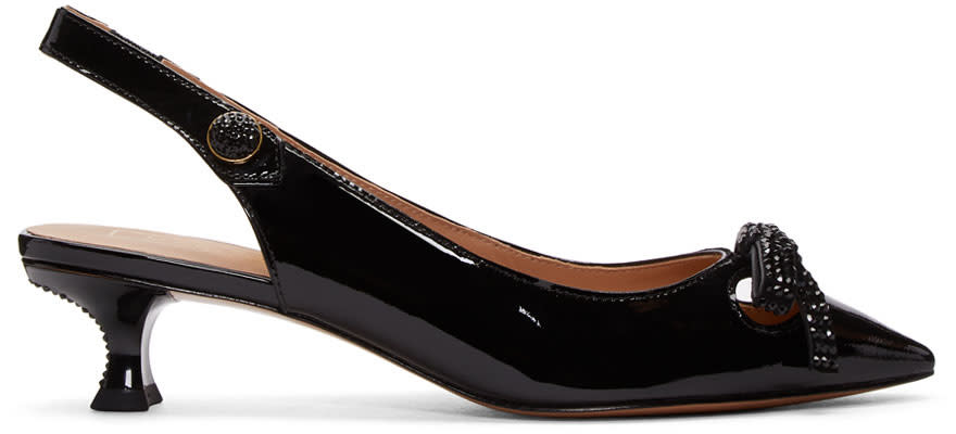 Image of Marc Jacobs Black Abbey Slingback Heels