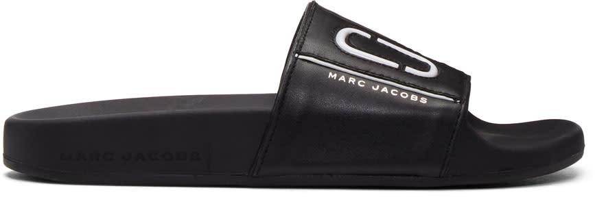 Marc Jacobs Black Cooper Sport Slides