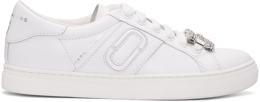 Marc Jacobs White Chain Link Empire Sneakers