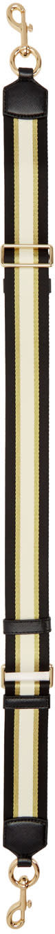 Marc Jacobs Black Sport Stripe Bag Strap