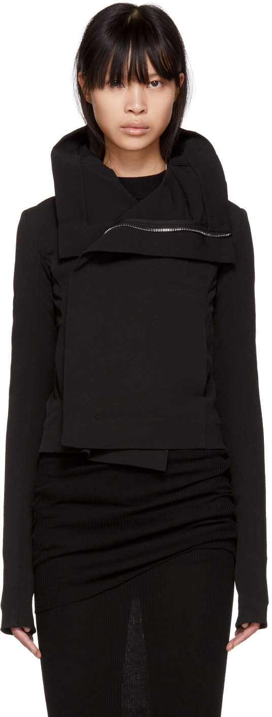 Rick Owens Black Clean Biker Jacket