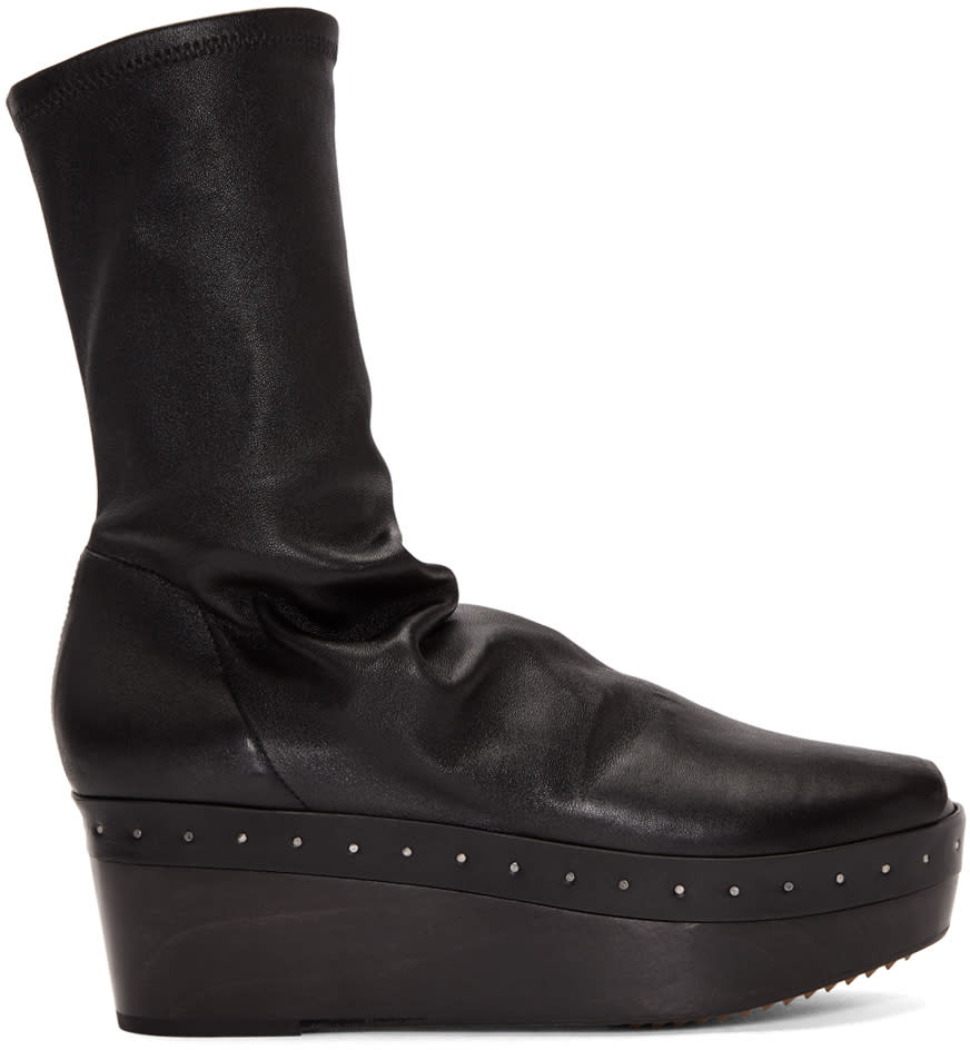 Rick-Owens-Black-Sabot-Sock-Boots