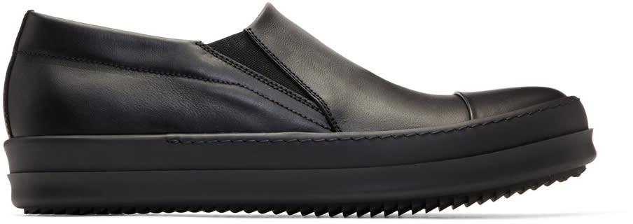 05f3d882bc2d Rick Owens Black Boat Slip on Sneakers