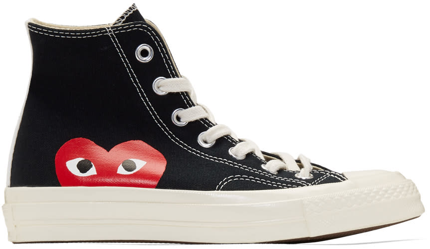 Image of Comme Des Garçons Play Black Converse Edition Chuck Taylor All-star 70 High-top Sneakers