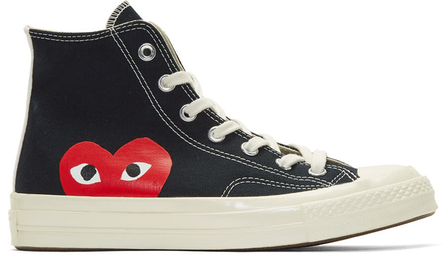 Comme Des Gar�ons Play Black Converse Edition Chuck Taylor All-star 70 High-top Sneakers