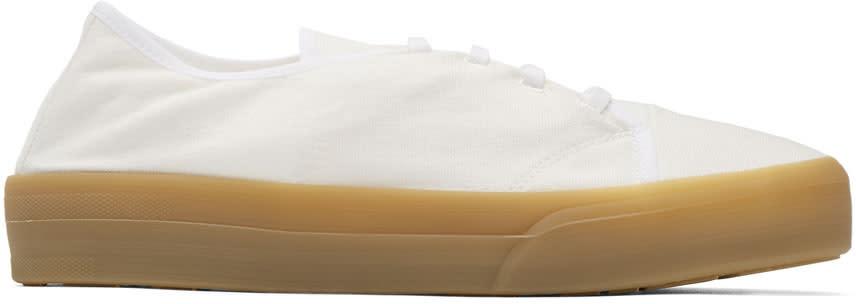 Jil Sander White Canvas Sneakers