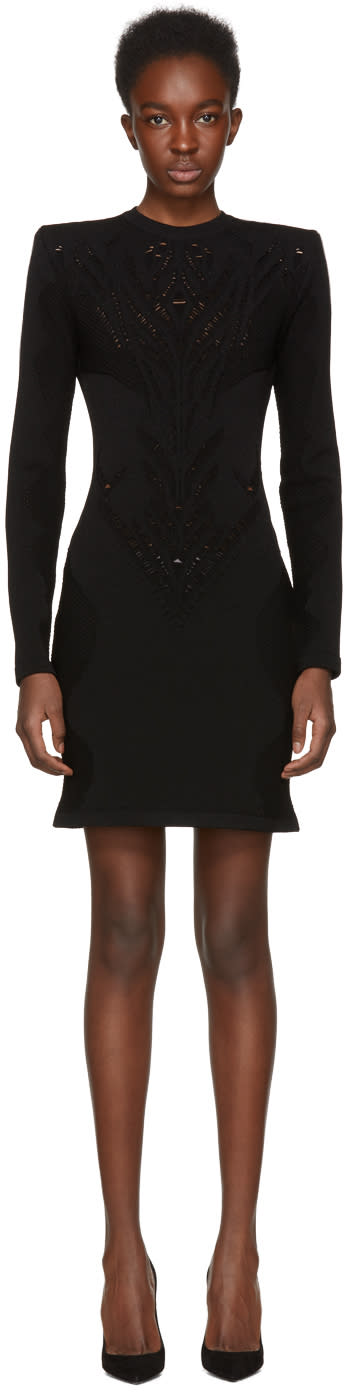 Balmain Black Lace Dress