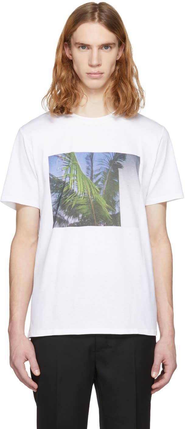 A.p.c. T-shirt Blanc Palm Tree