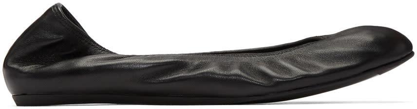 Image of Lanvin Black Classic Ballerina Flats