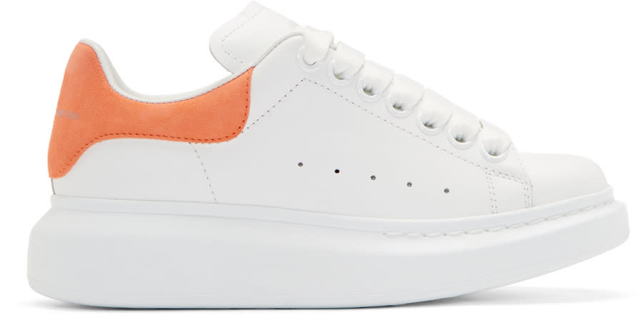 2ebb16669eebae Alexander Mcqueen White and Orange Oversize Sneakers