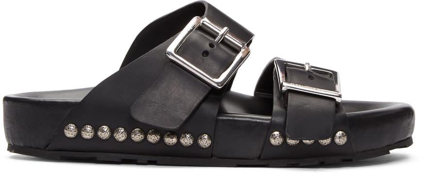 Alexander Mcqueen Black Strap Sandals