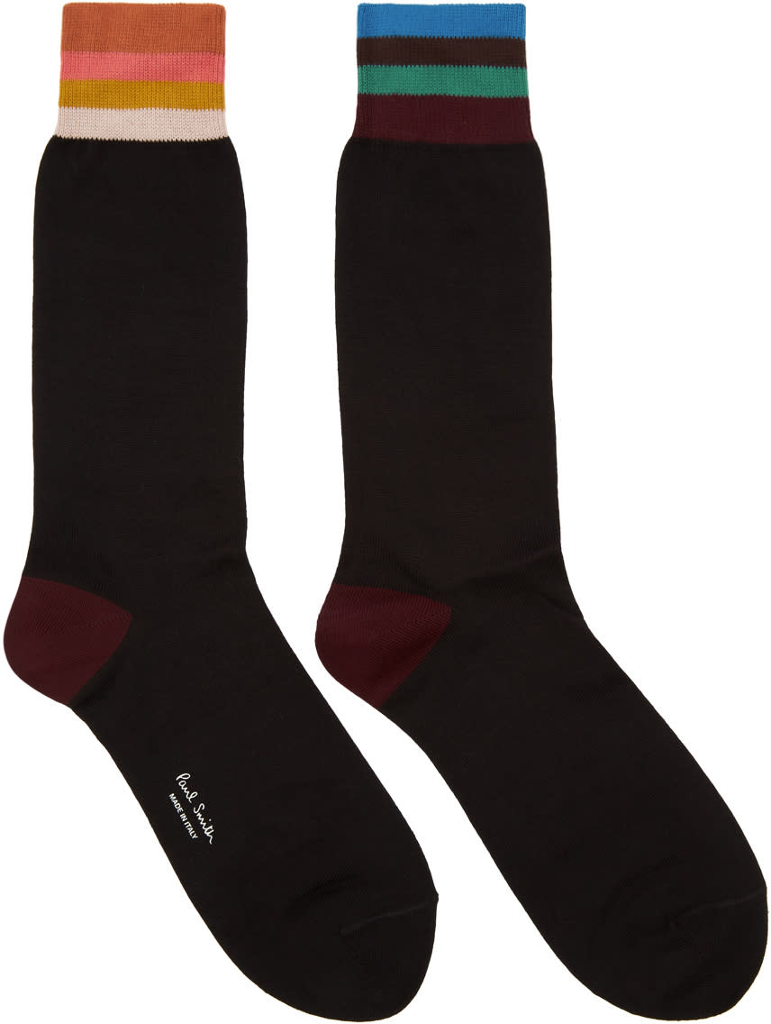 Image of Paul Smith Black Artist Stripe Socks