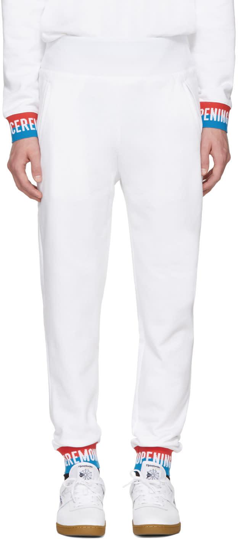 Opening Ceremony Pantalon De Survêtement à Logo Blanc Elastic