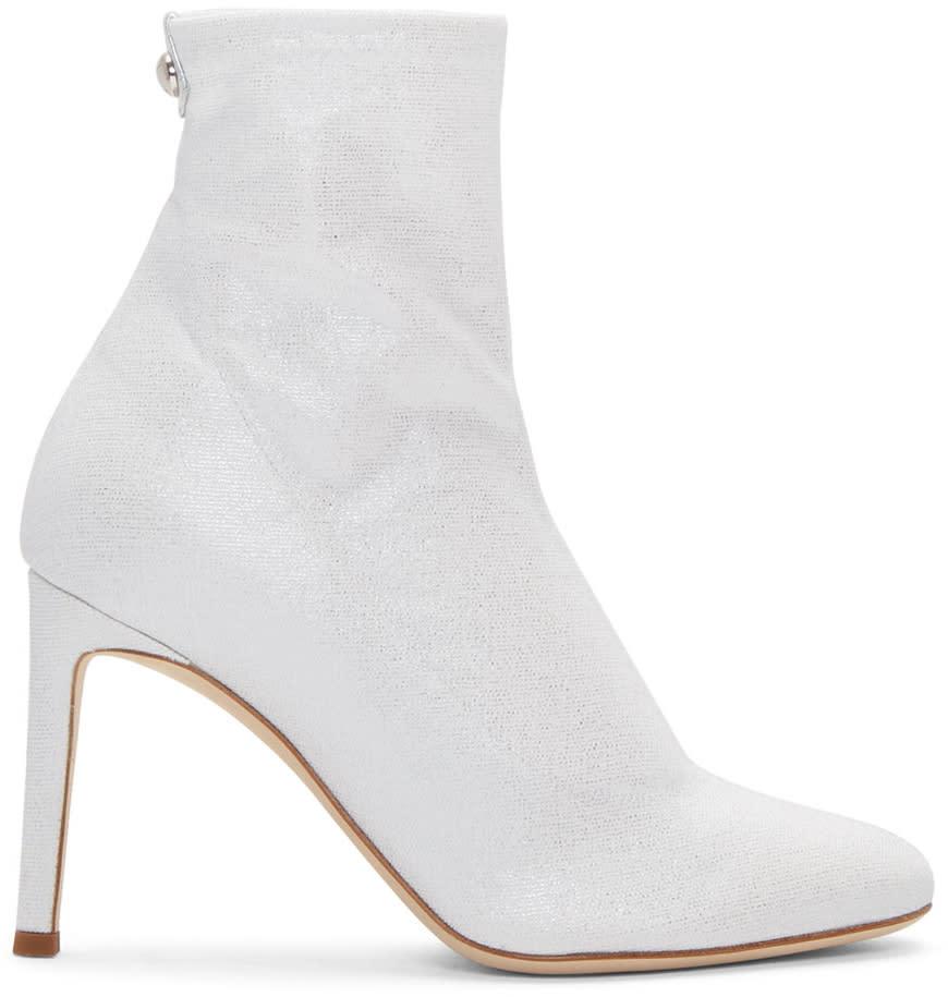 658887f6ddd58 Giuseppe Zanotti Silver Bimba Sock Boots