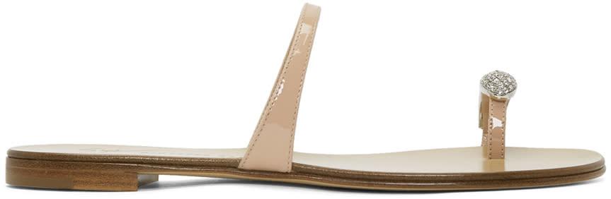 Giuseppe Zanotti Pink Patent Nuvorock Sandals