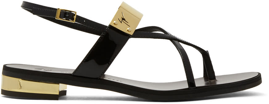 Giuseppe Zanotti Black Bughi Sandals